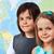bambini · geografia · classe · focus · ragazza · faccia - foto d'archivio © ilona75