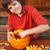 fiú · halloween · sütőtök · otthon · művészet · jókedv - stock fotó © ilona75