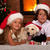 kids and their pets at christmas time stock photo © ilona75