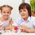 kids painting easter eggs stock photo © ilona75