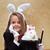 küçük · illüzyonist · büyü · tavşan · tavşan - stok fotoğraf © ilona75