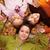nő · gyerekek · ősz · föld · fektet · fedett - stock fotó © ilona75