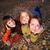 család · ősz · portré · fektet · föld · citromsárga - stock fotó © ilona75