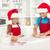 mutlu · aile · Noel · kurabiye · anne · küçük - stok fotoğraf © ilona75