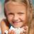 mutlu · küçük · kız · sığ - stok fotoğraf © ilona75