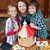 woman and kids preparing a bird house in autumn stock photo © ilona75