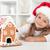 benim · Noel · zencefilli · çörek · kurabiye · ev · küçük · kız - stok fotoğraf © ilona75