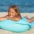 küçük · kız · şişme · yatak · sal · plaj · güneşlenme - stok fotoğraf © ilona75