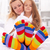 woman and little girl wearing funny socks stock photo © ilona75