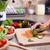 gyermek · kezek · tapsolás · zöldségek · vágódeszka · saláta - stock fotó © ilona75