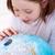 leren · wereld · jong · meisje · aarde · wereldbol · kinderen - stockfoto © ilona75