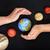 terra · casa · mãos · planeta · preto - foto stock © ilona75
