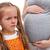 weinig · broer · huilen · meisje · zwangere · moeder - stockfoto © ilona75