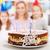 aniversário · velas · bolo · branco · fundo · alimentos - foto stock © ilona75