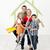 famiglia · felice · pittura · pronto · home · famiglia - foto d'archivio © ilona75
