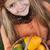 kislány · tökök · ősz · portré · lány · mosoly - stock fotó © ilona75
