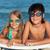çocuklar · yüzme · gözlük · plaj · su - stok fotoğraf © ilona75