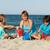 kadın · çocuklar · plaj · oynama · kum · aile - stok fotoğraf © ilona75
