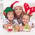 család · karácsony · sapkák · készít · mézeskalács · süti - stock fotó © ilona75
