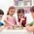 család · játszik · társasjáték · otthon · gyerekek · férfi - stock fotó © ilona75
