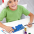 boy making christmas card stock photo © ilona75