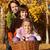 ősz · családi · portré · levelek · kert · lány · természet - stock fotó © ilona75