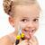 女の子 · 行方不明 · 歯 · 顔 · ミルク · 口 - ストックフォト © ilona75