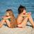 çocuklar · rahatlatıcı · plaj · erkek · kız · oturma - stok fotoğraf © ilona75