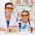 Lehrer · Studenten · Wissenschaftler · Gläser · arbeiten · chemischen - stock foto © ilona75