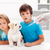 worried kids with their pet at the veterinary stock photo © ilona75