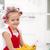 dziewczynka · duży · dania · uśmiechnięty - zdjęcia stock © ilona75