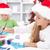 kids making christmas greetings stock photo © ilona75