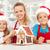 mutlu · Noel · aile · mutfak · zencefilli · çörek · ev - stok fotoğraf © ilona75