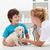 мальчика · пушистый · собака · ветеринарный · Focus - Сток-фото © ilona75