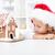 cookie · huis · handgemaakt · ingericht · geïsoleerd · witte - stockfoto © ilona75