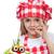 wenig · Küchenchef · kreative · Essen · Zwiebel · Haar - stock foto © ilona75