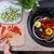 çocuk · eller · sebze · salata · üst - stok fotoğraf © ilona75