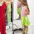 csinos · kislány · nagy · cipők · kicsi · szőke · nő - stock fotó © ilona75