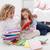 mère · petite · fille · lire · livre · ensemble · salon - photo stock © ilona75