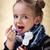 dziewczynka · homeopatycznych · lek · strony · butelki · twarz - zdjęcia stock © ilona75