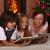 family reading stories at christmas time stock photo © ilona75