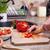çocuk · eller · kırmızı · taze · sebze · salata - stok fotoğraf © ilona75