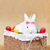 witte · mooie · konijn · Easter · Bunny · eieren · mand - stockfoto © ilona75
