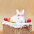 sevimli · easter · bunny · renkli · yumurta · oturma · sepet - stok fotoğraf © ilona75