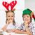 çocuklar · Noel · yeme · zencefilli · çörek · kurabiye - stok fotoğraf © ilona75