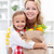 little girl and woman with the groceries stock photo © ilona75