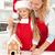 mutlu · kadın · küçük · kız · zencefilli · çörek · ev - stok fotoğraf © ilona75