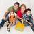 famille · deux · enfants · prêt · maison · séance - photo stock © ilona75