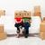 Coppia · nuova · casa · cartone · scatole · seduta · coperto - foto d'archivio © ilona75