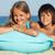 imádnivaló · gyerek · napozás · tengerpart · napszemüveg · társalgó - stock fotó © ilona75